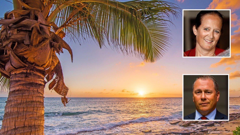 EVENTYRLIG: Solen går ned i havet utenfor Cayman Islands i Karibia. Her har Nicolai Tangens har kritisert