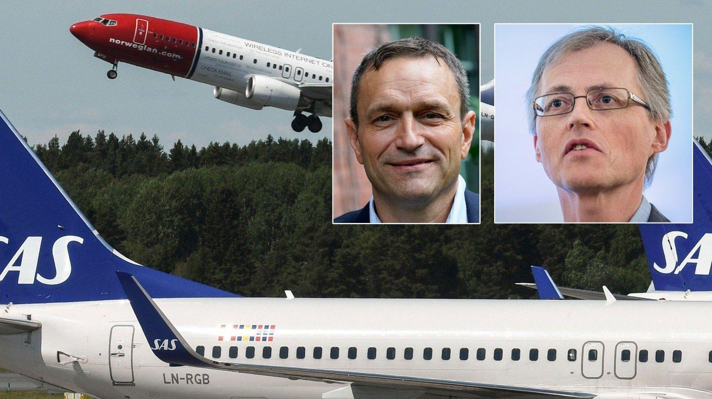 VIL SKROTE AVGIFT: - Det er ikke rett medisin å gjeninnføre flypassasjer-avgiften - den bør kanselleres for godt, sier adm.dir Torbjørn Lothe i NHO . Den bør tvert imot økes, mener Arild Hermstad, nestleder i MDG.