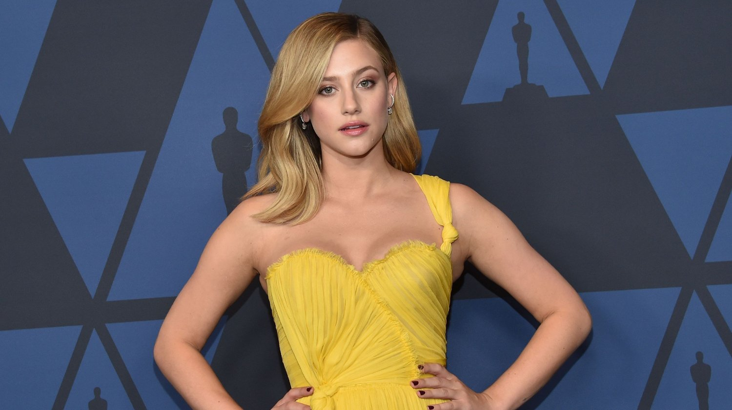 US actress Lili Reinhart arrives to attend the 11th Annual Governors Awards gala hosted by the Academy of Motion Picture Arts and Sciences at the Dolby Theater in Hollywood on October 27, 2019.