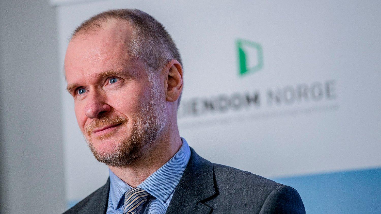 NY BOLIGSTATISTIKK: Henning Lauridsen i Eiendom Norge presenterte torsdag boligstatistikken for mai.