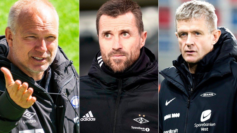 HVA NÅ? Dag-Eilev Fagermo, Eirik Horneland og Lars Arne Nilsen er alle spente før sesongstart. Én ting er sikkert: Ikke alle er like fornøyde når sesongen er ferdig.