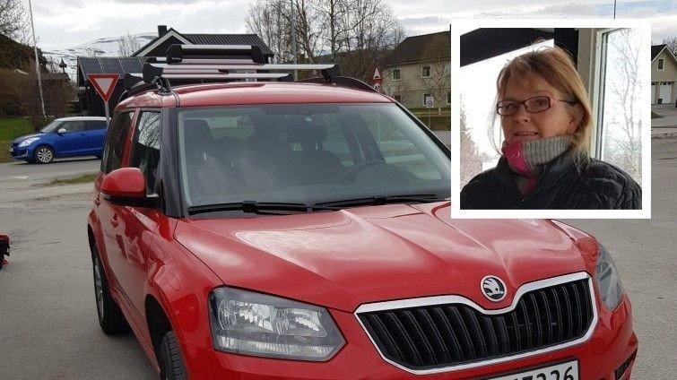 Liv Dagrun Ørsleie og bilen hennes