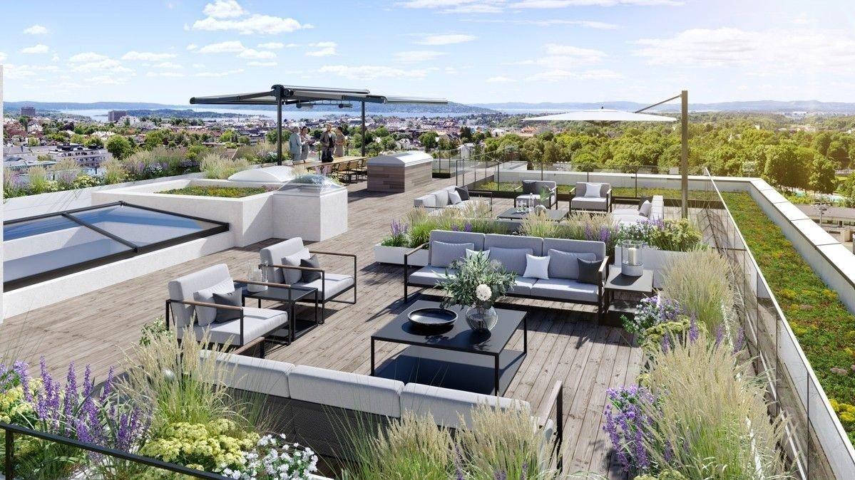 Luksusleilighet til 97 mill på Middelthunet i Oslo