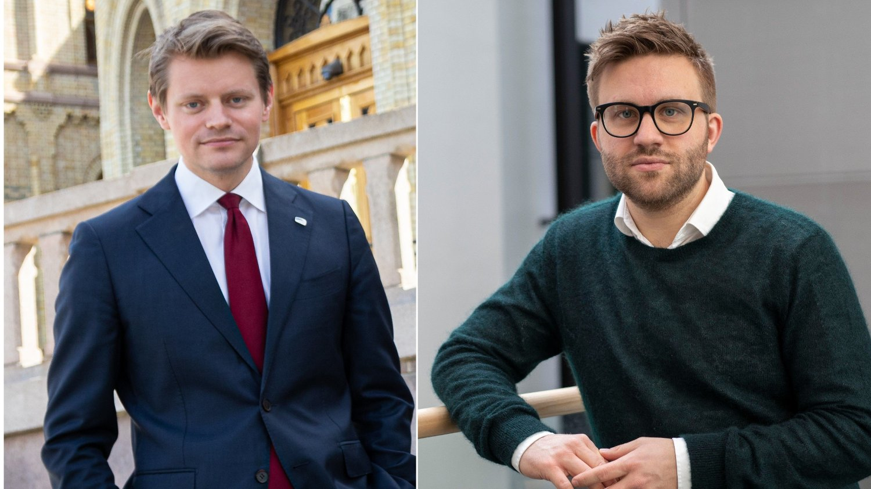 NEI TAKK: Høyre-politikerne Peter Frølich og Stefan Heggelund har lite til overs for dem som vil rive statuer.
