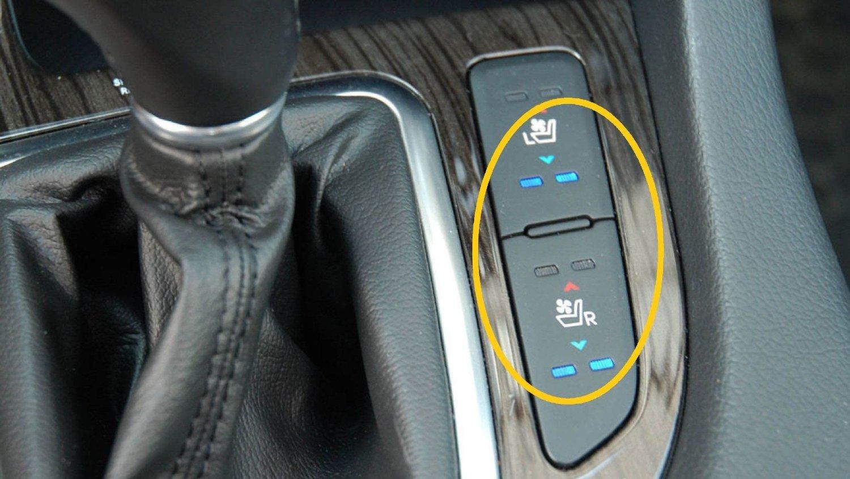 Rødt betyr varme i forsetene - blått betyr behagelig kald luft som virkelig svaler på varme sommerdager. Utstyr som tidligere var forbeholdt de aller dyreste bilene, begynner nå å komme på langt mer folkelige modeller. Dette er fra Kia Optima.