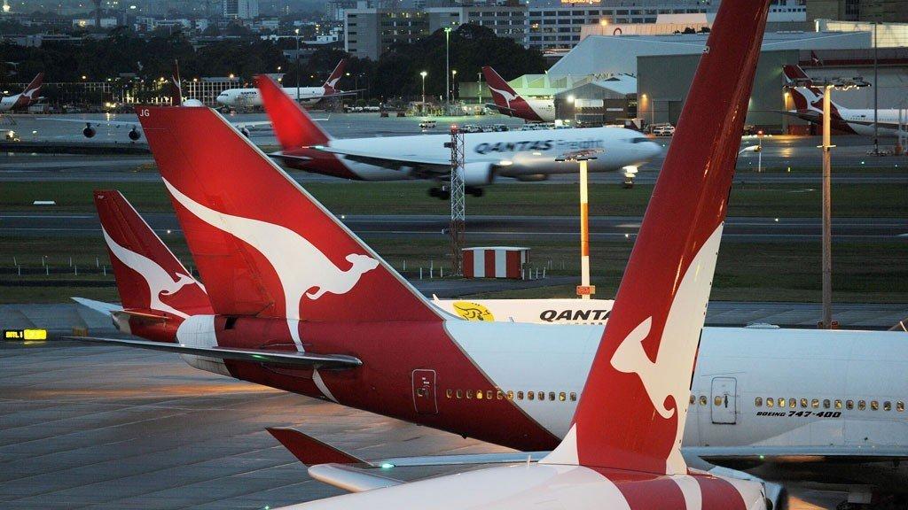 Fly fra australske Qantas