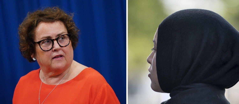 STATSRÅD-JA: Landbruks- og matminister Olaug Vervik Bollestad åpen for å tillate hijab i politiet.