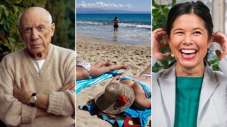 Pablo Picasso, Syden-farere på stranden og Lan Marie Berg
