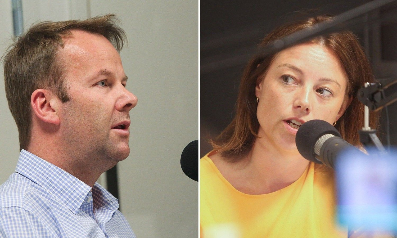 TV 2s Sarah Willand og Get/Telias Henning Lunde barket sammen i dagens episode av Stavrum & Eikeland. 26. juni 2020