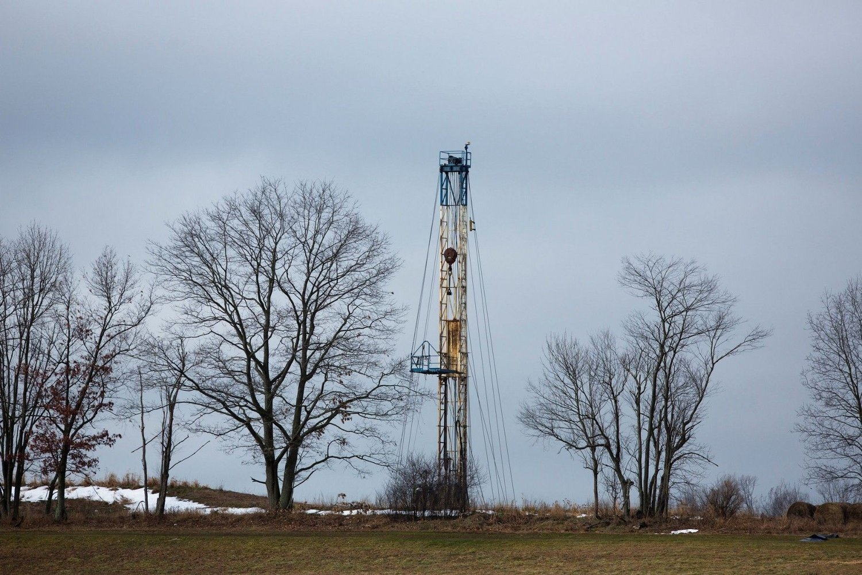 En skifergass-rigg eid av Chesapeake i Bradford County i Pennsylvania.