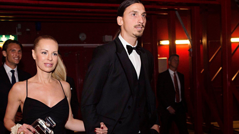 SKAL HA REAGERT: Zlatan Ibrahimovic, her med kona Helena Seger, skal ha gitt klar beskjed til AC Milan-eier om hva han synes om måten klubben ledes på.