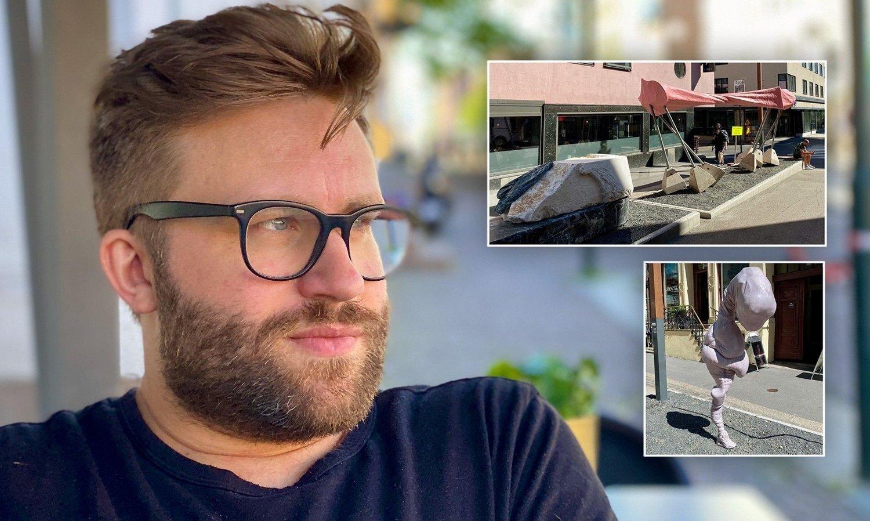 STYGT: Stortingsrepresentant Stefan Heggelund (H) sier han synes det er bra med kunst i det offentlige rom. Men er ikke alltid like fornøyd med sluttresultatet.