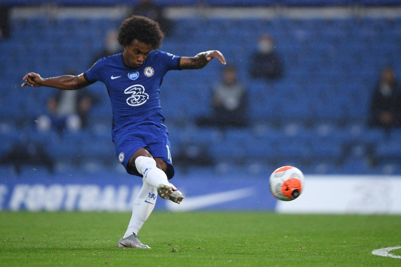 Chelseas Willian i 3-0-seieren over Watford.