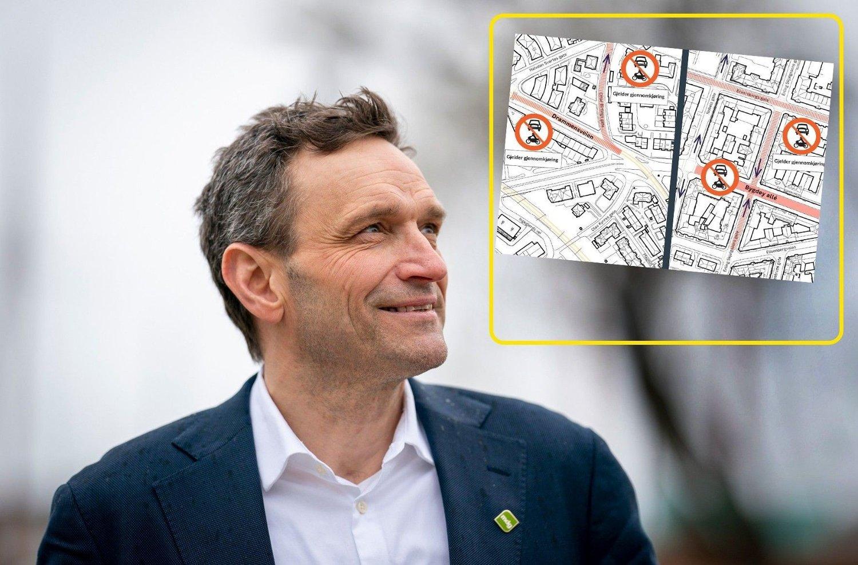 KAPTEIN KAOS: Etter å ha forsøkt å stenge en hovedinnfart sørfra, er det nå folk vestfra som skal stenges i Drammensveien og Bygdøy Allé av MDG-byråd Arild Hermstad.