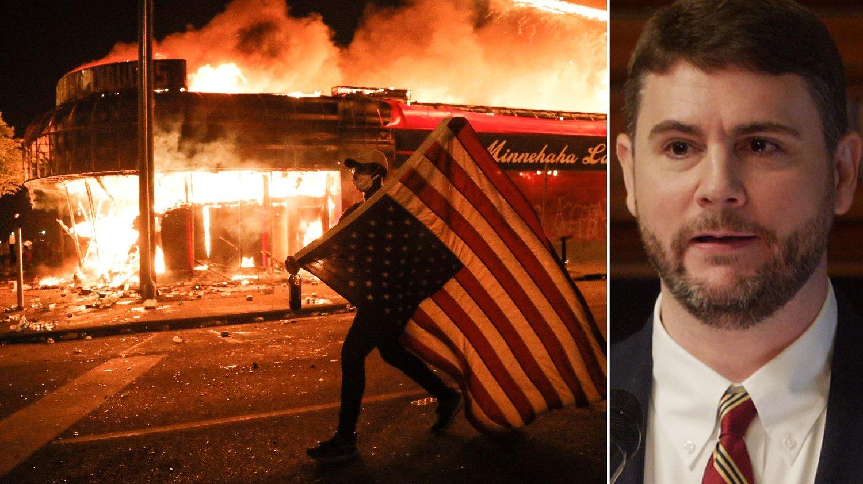 USA i brann - James Lindsay innfelt.