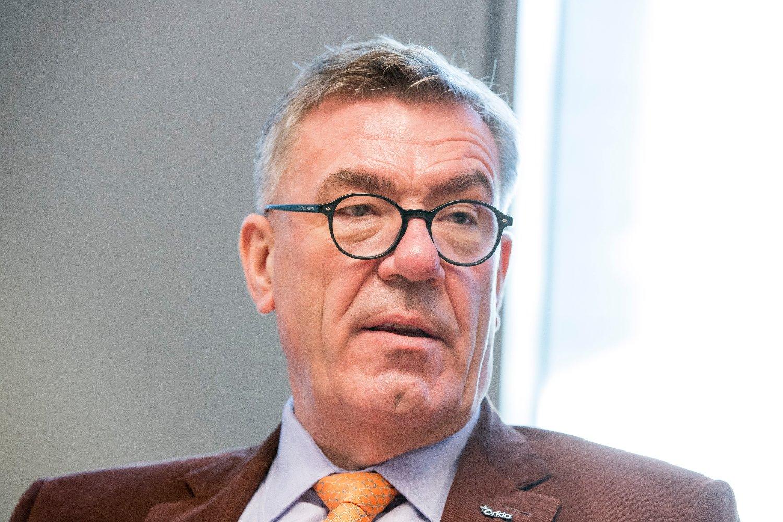 Oslo 20180318. Styreleder Stein Erik Hagen er styreleder i Orkla. Her i forbindelse med at Peter A. Ruzicka slutter som Orkla-sjef.