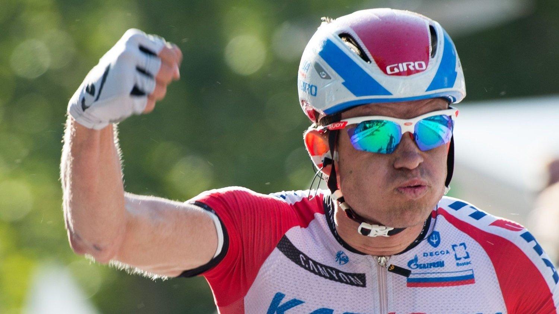 Norway's Alexander Kristoff of Team Katusha , celebrates as he wins the Hamburg Cyclassics cycling race in Hamburg, northern Germany, Sunday Aug. 24, 2014. / TT / kod 436