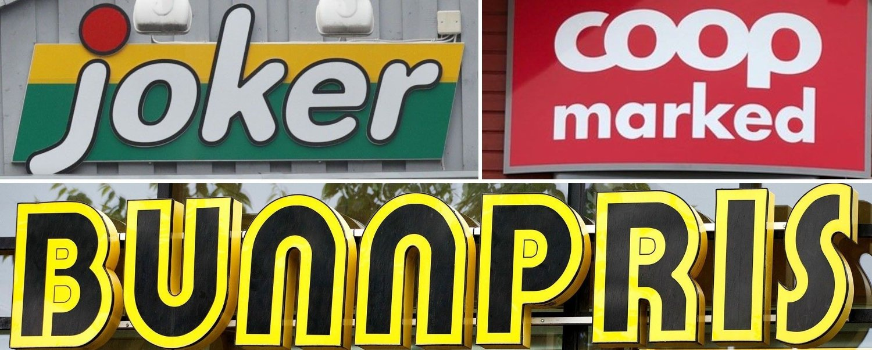 NÆRBUTIKKER: Nettavisens dagligvarebørs kårer denne ukens billigste nærbutikk av Bunnpris, Joker og Coop Marked.