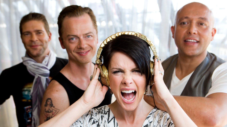 Midnatt fredag vil ikke lenger dansk musikk være tilgjengelig på YouTube. Avbildet er det danske popbandet Aqua, med norske Lene Nystrøm i front.