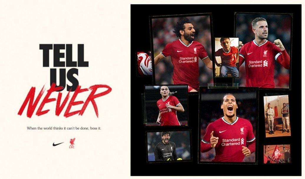 Den nye draktsponsoren til Liverpool er Nike.