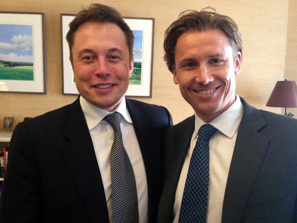 Elon Musk og Christian Eidem.