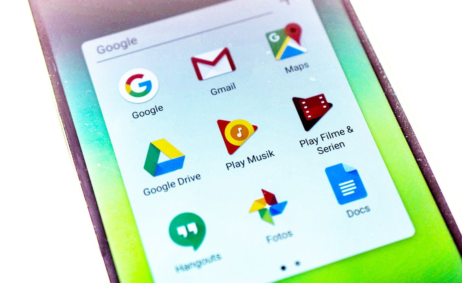Rostock, Germany - January 13, 2018: Google apps on Android smar Rostock, Germany - January 13, 2018: Google apps on Android smartphone, including Gmail and Google Maps.