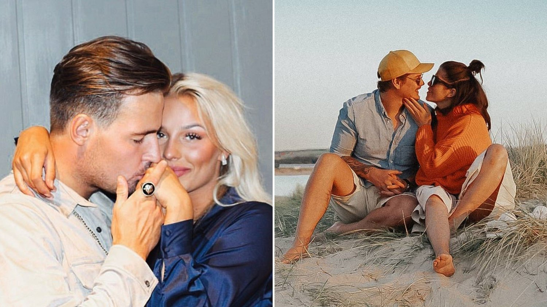 KJÆRESTER: Lørdag er Øystein Lihaug Solberg og Kristin Gjelsvik klare for å innta «Skal vi danse»-parketten. På hjemmebane får de full støtte fra kjærestene sine.