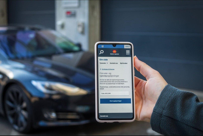 NY LØSNING: Nå kan du bare logge inn på din side på Statens vegvesen for å finne hvem som eier en bil.
