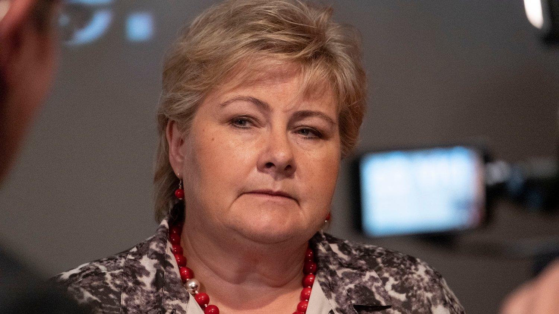 BLANDET FOR SOLBERG: SSBs nye konjunkturrapport er ikke bare godt nytt for statsminister Erna Solberg (H). Foto: Tor Erik Schrøder / NTB scanpix