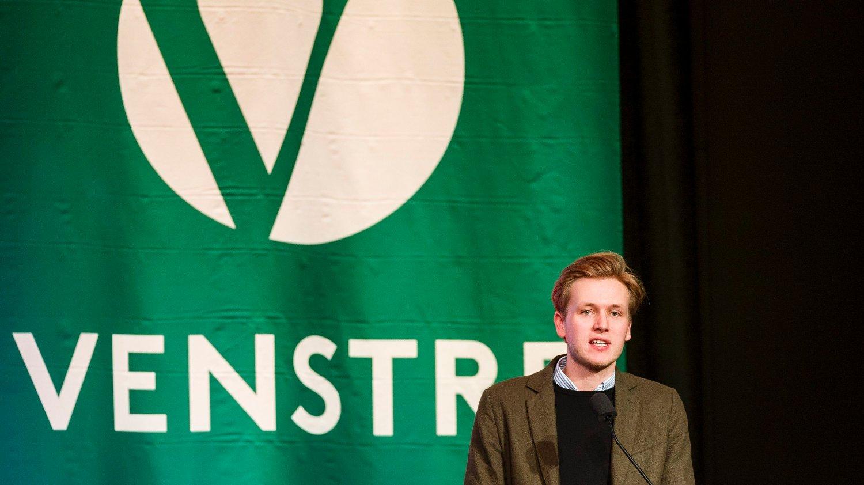 Unge Venstres leder Sondre Hansmark.