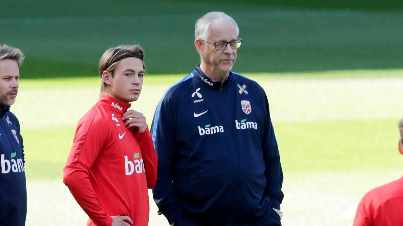 PÅ LANDSLAGET: Lars Lagerbäck tok ut Patrick Berg i landslagstroppen for første gang ved forrige landslagssamling.
