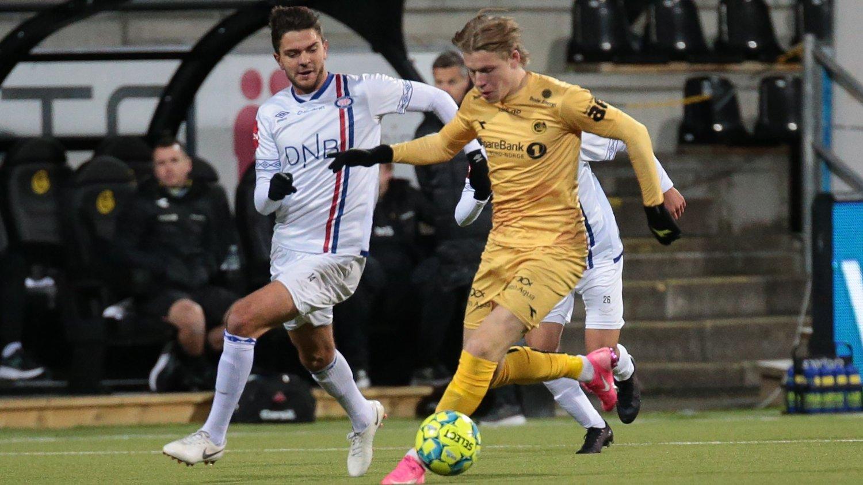 IKKE IMPONERT: Jens Petter Hauge var ikke imponert over Vålerengas prestasjoner i den første omgangen.