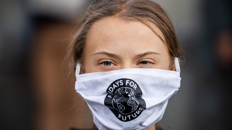 Den svenske klimaaktivisten Greta Thunberg var for første gang på lenge ute og demonstrerte.