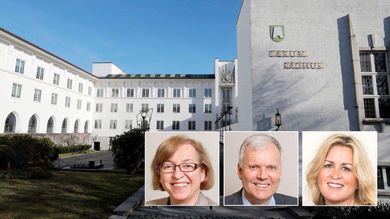 Bærum rådhus. SANDVIKA 20170407. Bærum rådhus, Rådhustorget, Bærum.
