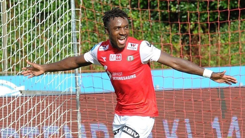 Thierry Dabove har vært en suksess i Bryne. Foto Tarjei Sel, Jærbladet