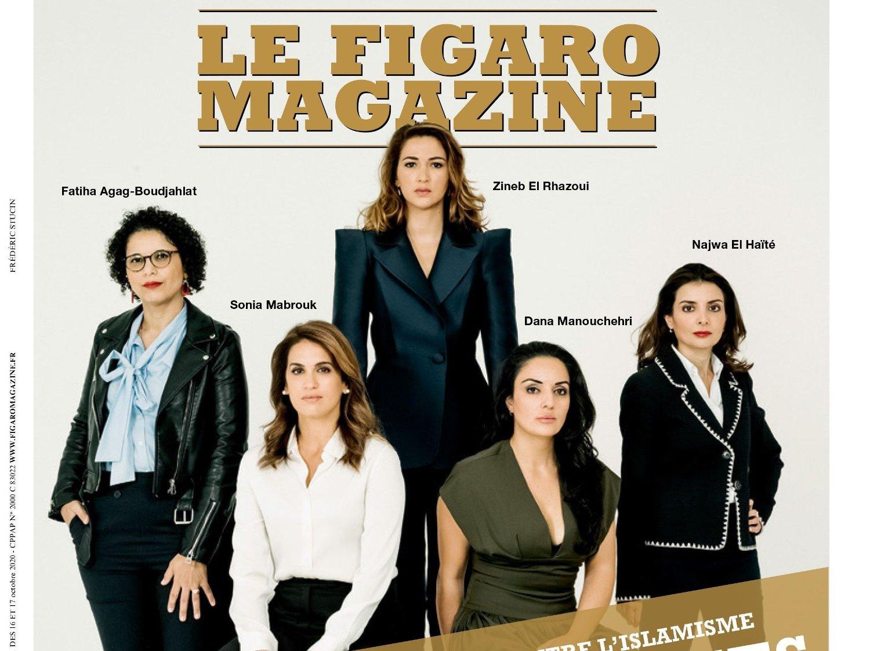 ÉN AV FEM: Nettavisens kommentator, Dana Manouchehri, har blitt valgt ut til å være på forsiden av det franske magasinet «Le Figaro Magazine».