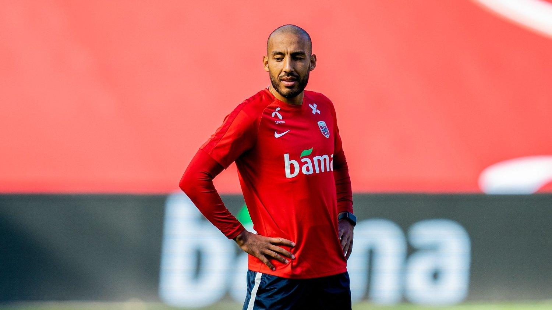 HAR FUNNET NY KLUBB: Haitam Aleesami. Her på trening med det norske landslaget tidligere i høst.