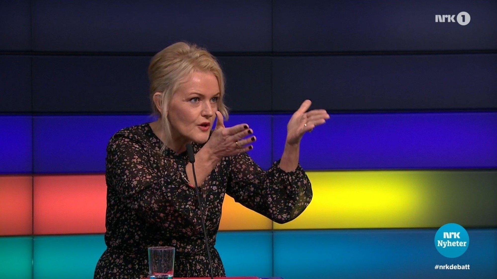 Kari Lise Jacobsen Eidjar hadde mye på hjertet under «Debatten» i kveld.