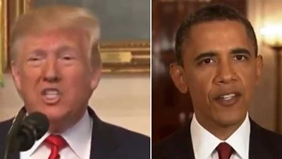 Donald Trump og Barack Obama