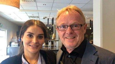 Per Sandberg og hans norsk-iranske kjæreste Bahareh Letnes har kjøpt seg hus i Halden. Foto: Heidi Schei Lilleås / Nettavisen