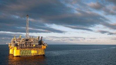 Troll C-plattformen på Fram-feltet i Nordsjøen. Oljefunnet er gjort rundt 120 kilometer nordvest for Bergen.