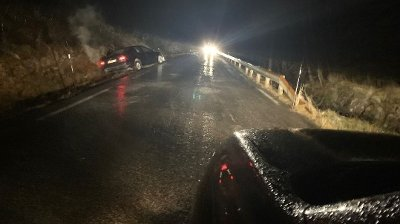 GLATT: Slik ser det ut på fylkesveg 609 på Vestlandet i morgentimene.