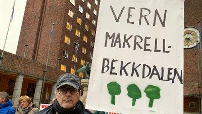 Makrellbekken Oslo rådhus protest mot reservevannløsning. Thomas Henrik Urbye.