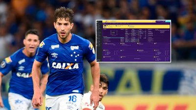 Fotballspiller Lucas Silva avbildet under kamp for Cruzeiro.