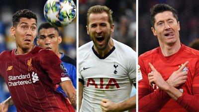 PÅ LISTA: Roberto Firmino, Harry Kane og Robert Lewandowski er alle på lista over verdens 10 beste spisser. Men en annen spiller tar førsteplassen..