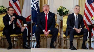 Donald Trump møtte både Frankrikes president Emmanuel Macron og NATOs generalsekretær Jens Stoltenberg. Trump legger ikke skjul på hvem han liker mest.