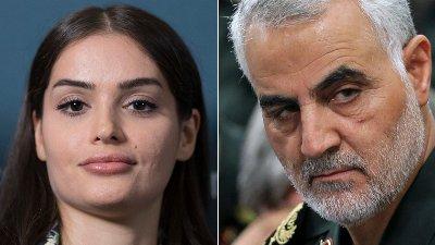 Bahareh Letnes og den iranske generalen Qasem Soleimani.