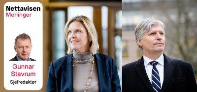 Vignett Nett på sak Sylvi Listhaug og Ola Elvestuen