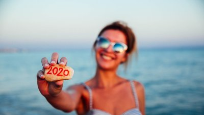 New year 2020 on stone New year 2020 on stone