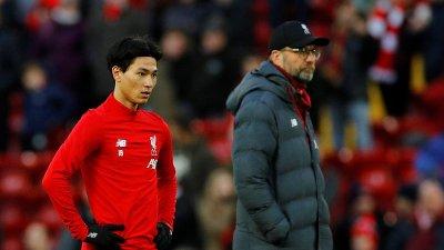 NY SPILLER: Liverpool og manager Jürgen Klopp har sendt Takumi Minamino på banen fra start i FA-cupen mot byrival Everton.